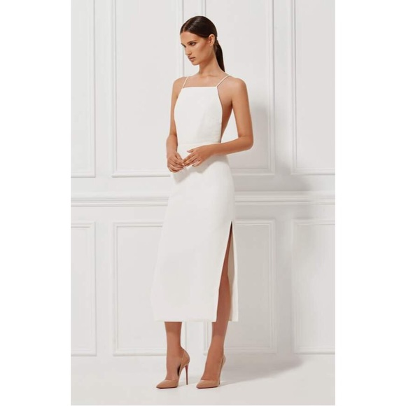 a89716ccb929 Misha Collection Alessandra Backless Midi Dress S.  M_5ad8f1dfa4c48596ffc11454